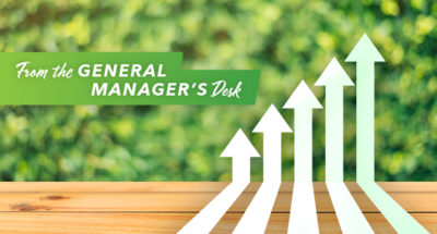 From the General Manager's Desk - Here we Grow Again
