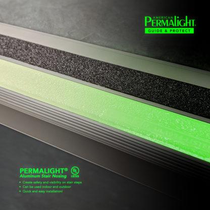 PERMALIGHT® Photoluminescent Aluminum Stair Nosing