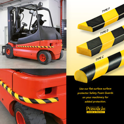 Black/Yellow Safety Foam Guards - Flat Surface Protectors Work Perfectly for Protecting Machines