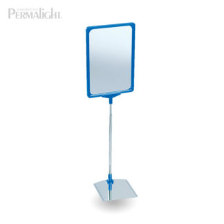 Standing Custom Sign Holder, Blue Frame, Steel, A4 Size