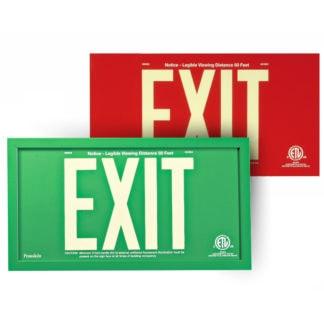 Aluminum EXIT Signs