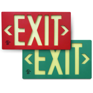 LED activation 100-foot Viewing Distance EXIT Signs