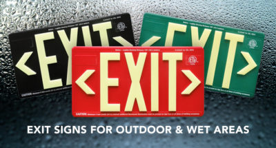 PERMALIGHT® Exit Signs for Outdoor & Wet Areas