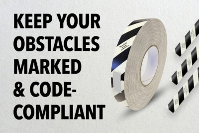 Keep your obstacles marked and building code-compliant with PERMALIGHT®