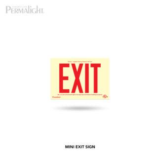 Mini PERMALIGHT® PVC Plastic Exit Sign - Glow-in-the-Dark - Photoluminescent - Fun Size