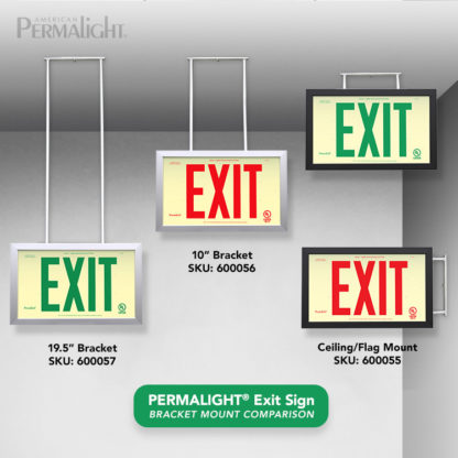 Mounting Brackets for PERMALIGHT® Exit Signs