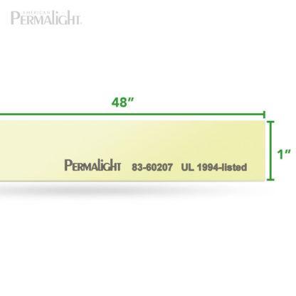 "PERMALIGHT® 1"" Photoluminescent Aluminum Strip, Self-Adhesive, Anti-Slip, UL1994-listed"