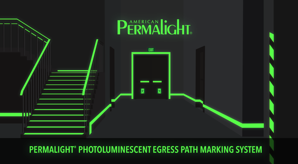 PERMALIGHT® Photoluminescent Egress Path Marking System
