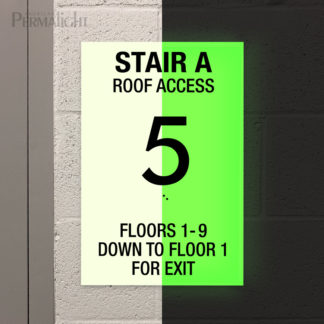 Permalight® PhotoluminescentRigid PVC Custom Floor ID Signs