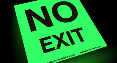 "The Importance of ""NO EXIT"" Signs"