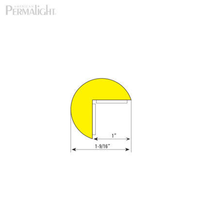 American PERMALIGHT® Safety Foam Guard - Type A Cross Section Dimensions