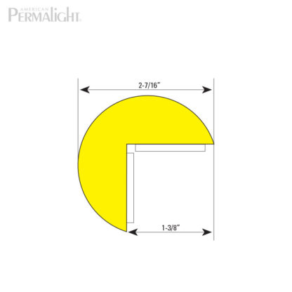 American PERMALIGHT® Safety Foam Guard - Type A+ Cross Section Dimensions