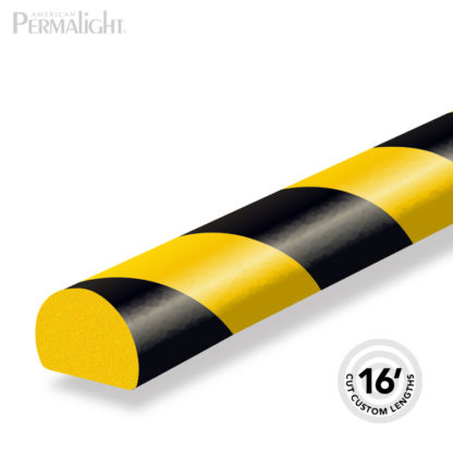 Safety Foam Guard Flat Surface Protection, Type C, Black / Yellow, self-adhesive (16 ft)