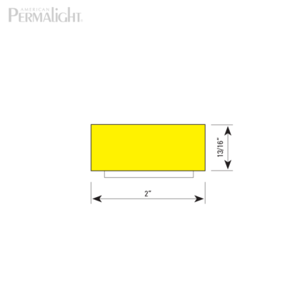 American PERMALIGHT® Safety Foam Guard - Type D Cross Section Dimensions
