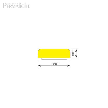 American PERMALIGHT® Safety Foam Guard - Type F Cross Section Dimensions
