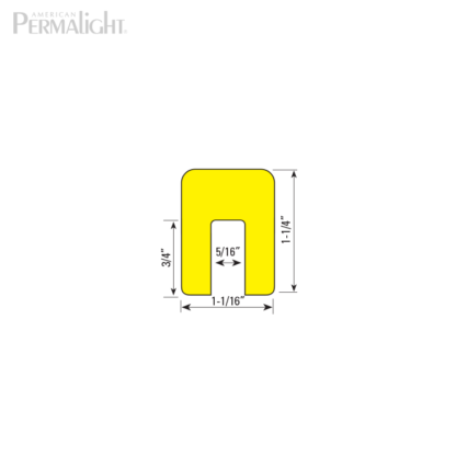 American PERMALIGHT® Safety Foam Guard - Type G Cross Section Dimensions