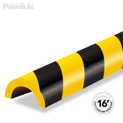 Safety Foam Guard Pipe Protection, Type R1, Black / Yellow, Self-Adhesive (16 ft)