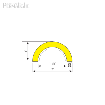 American PERMALIGHT® Safety Foam Guard - Type R1 Cross Section Dimensions