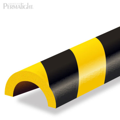 Safety Foam Guard Pipe Protection, Type R2, Black / Yellow, Self-Adhesive (39 3/8 in)