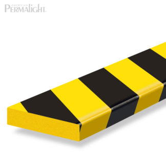 Safety Foam Guard Flat Surface Protection, Type S1, Black / Yellow, Self-Adhesive (39 3/8 in)