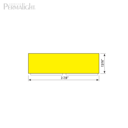American PERMALIGHT® Safety Foam Guard - Type S1 Cross Section Dimensions