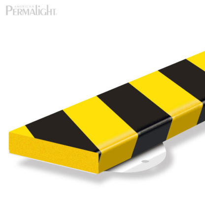 Safety Foam Guard Flat Surface Protection, Type S1 St, Black / Yellow, with Steel Mounting Support (39 3/8 in)