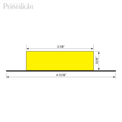 American PERMALIGHT® Safety Foam Guard - Type S1 Steel Mounting Support Cross Section Dimensions
